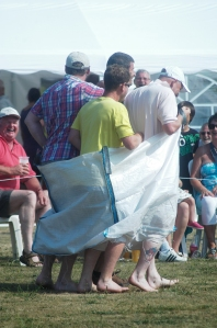making the sack race easier!