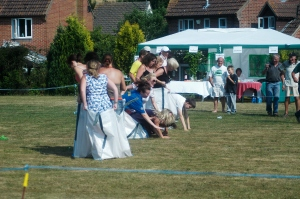 Sack race competitors!